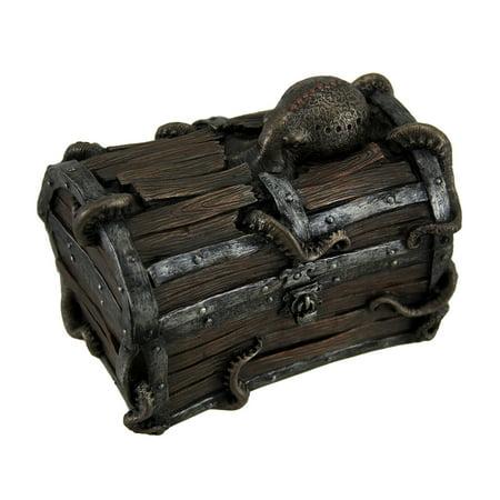 Octopus Escape Decorative Deep Sea Treasure Chest Trinket Box