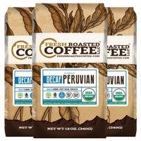 Fresh Roasted Coffee Llc. Water Processed Decaf Organic Peruvian Ground Coffee, 12 Oz (Pack Of 3) - Bird Friendly, Fair Trade