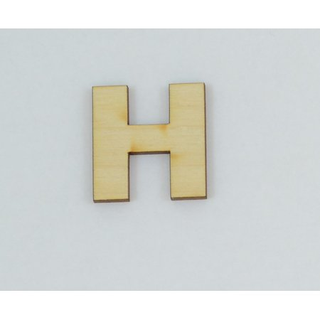 1 Pc, 8 Inch X 1/4 Inch Thick Wood Letters H In The Arial Font For Craft  Project & Different Decor