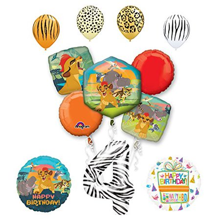 Lion Guard Party Supplies 4th Birthday Balloon Bouquet Decorations