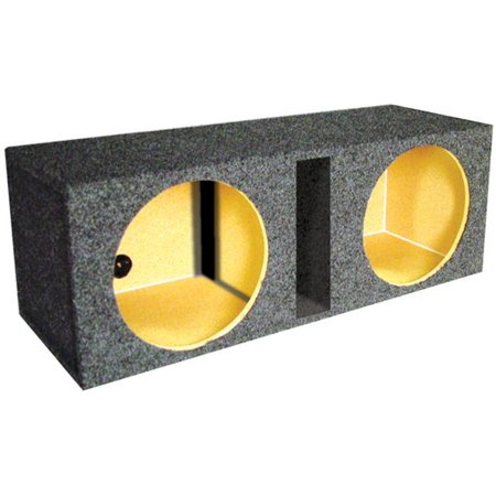 Vented Woofer - 12 in. Dual Vented Slot Ported Empty Woofer Box