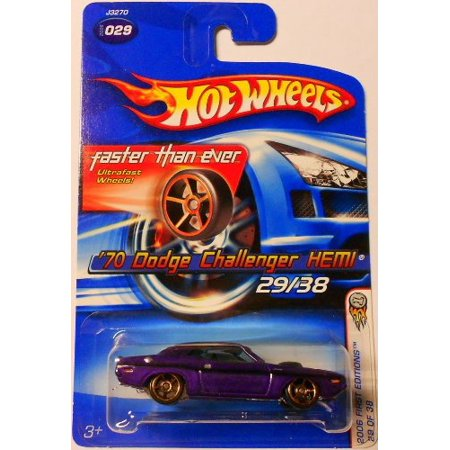 Purple 1970 DODGE CHALLENGER HEMI 2006 Hot Wheels First Edition Series 1:64 Scale Collectible Die Cast Car Model (Hemi 2006 Jeep)