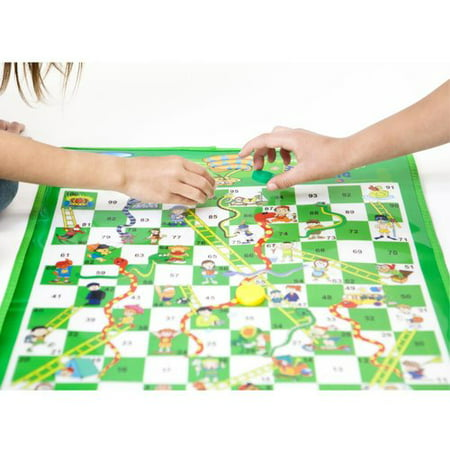 Dimple 2-4 Player Jumbo Snakes & Ladders Mat/Board