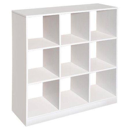 Badger Basket - 9 Cubby Storage Unit, White