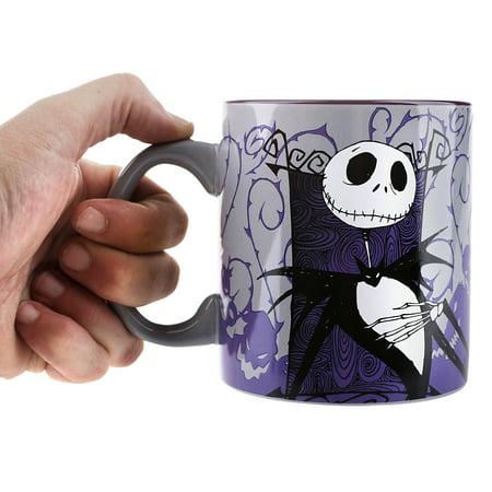 nightmare before christmas 20 oz ceramic mug purple and gray background