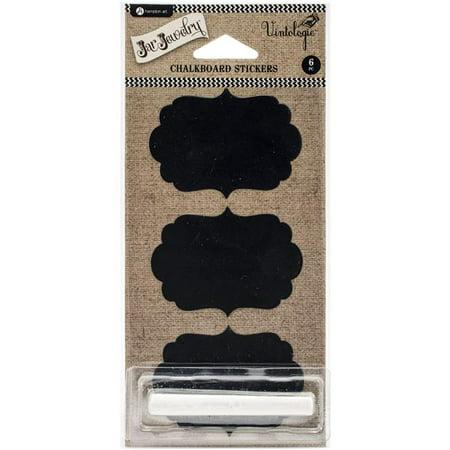 Chalkboard Stickers 6/Pkg-Shapes Sticker Art Shapes
