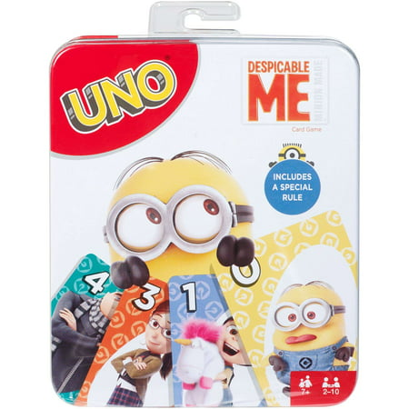 UNO Card Game, Despicable Me Theme, for 2 to 10 Players Ages 7 Years and Older