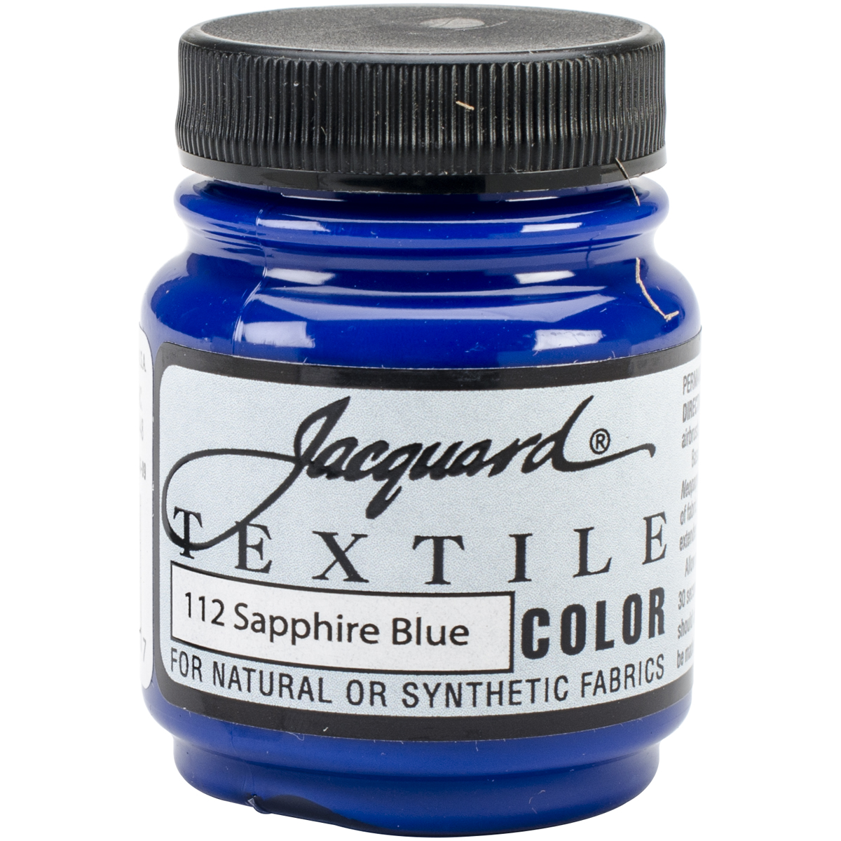 Jacquard Textile Color Fabric Paint 2.25oz-Sapphire Blue