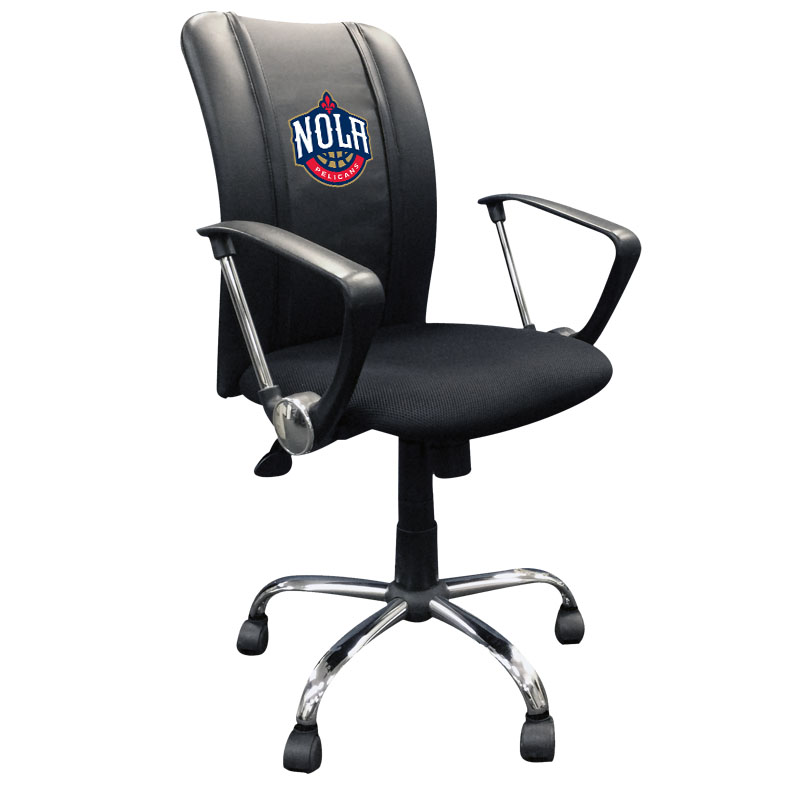 New Orleans Pelicans NBA Curve Task Chair with NOLA Logo Panel