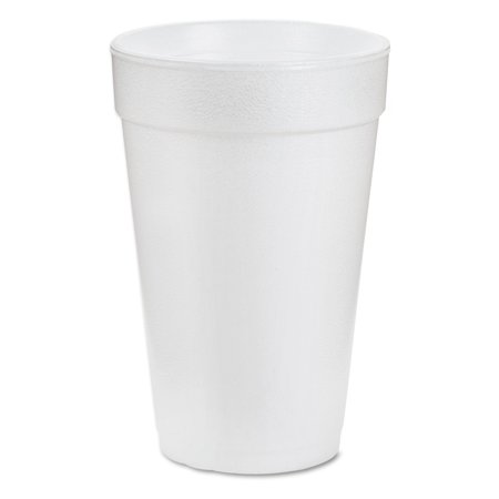 Dart Foam Drink Cups, 16 ounce, White, 1000/Carton - - 16 Ounce Carton