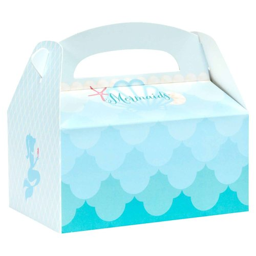 Mermaids Under the Sea Empty Favor Boxes, Pack of 4