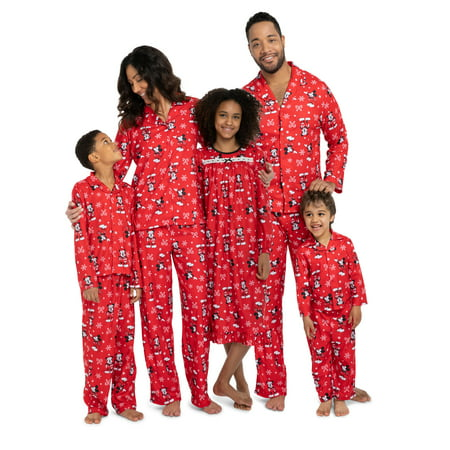 Mickey Mouse Christmas Holiday Family Sleepwear Unisex Kids Pajamas  21MK455BCL - Walmart.com 67183c75d