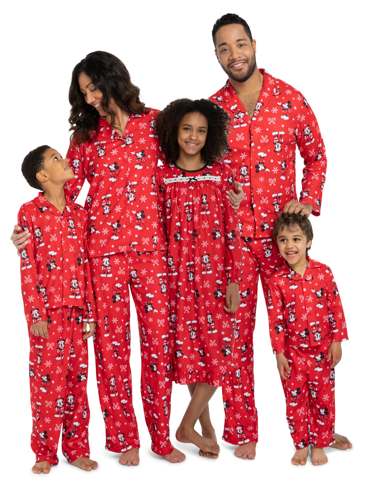 Mickey Mouse Christmas Toddler Granny Gown Nightgown Family Pajamas 21MK456TGL