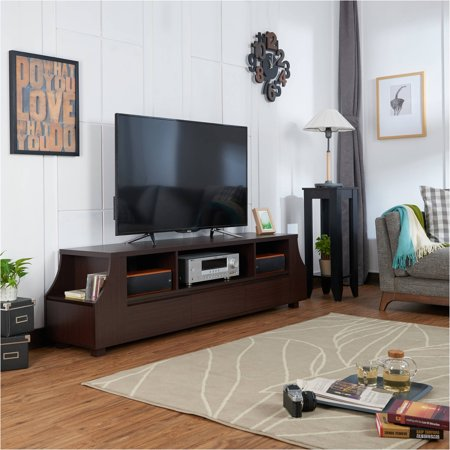 Furniture of America Patton Contemporary Walnut TV Stand for up to