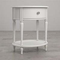 Little Seeds Rowan Valley Laren Oval Nightstand, White