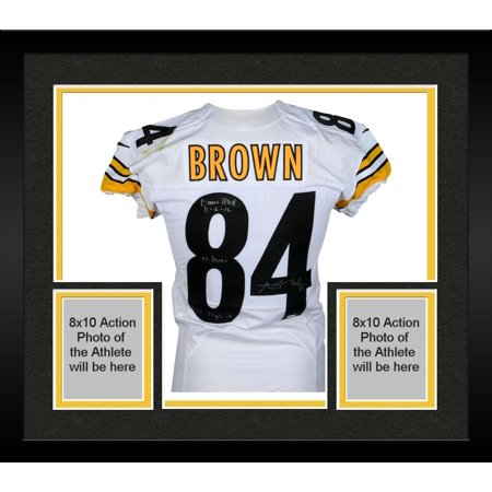 timeless design 4e4ea 144b3 Framed Antonio Brown Pittsburgh Steelers Autographed Game-Used #84 White  Jersey vs. Baltimore Ravens on November 6, 2016 - Fanatics Authentic ...