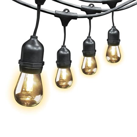 Feit Electric Indoor/Outdoor String Lights, 48ft - Great for Homes ...