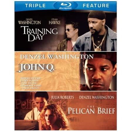 John Q   The Pelican Brief   Training Day  Blu Ray