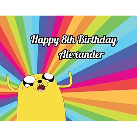 Adventure Time Edible Image Photo Cake Topper Sheet Personalized Custom Customized Birthday Party