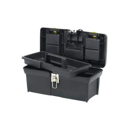 STANLEY 016011R One-Latch 16-Inch Toolbox with 2-Lid Organizer