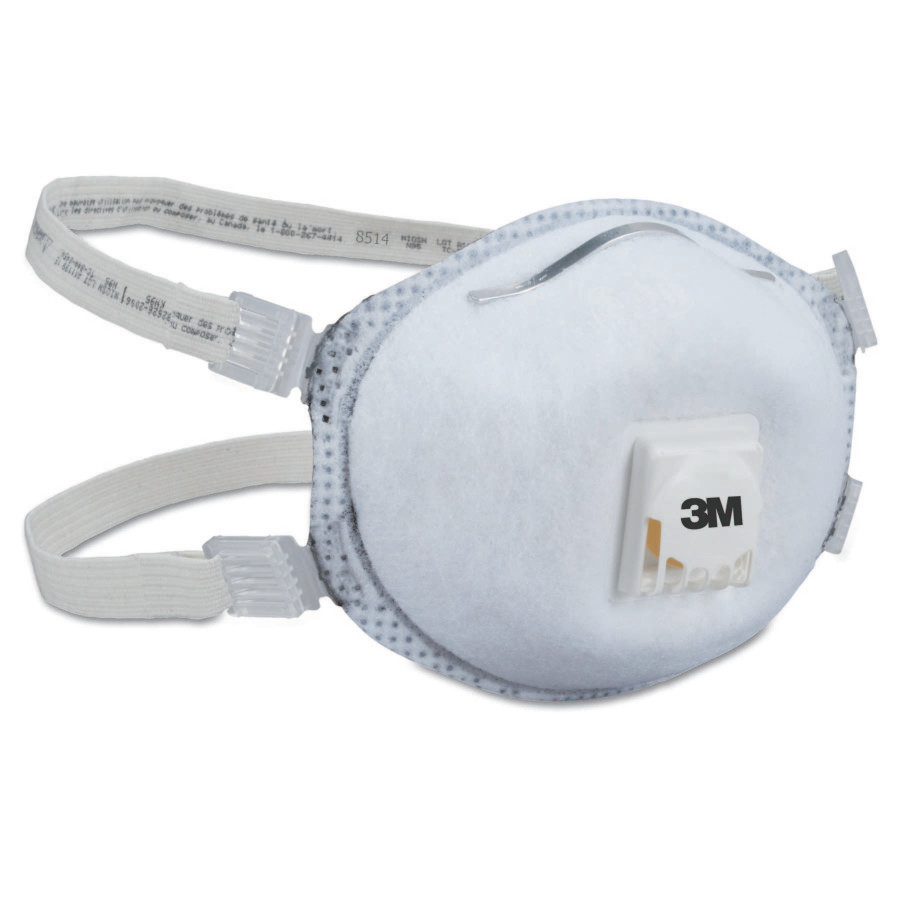 N95 Particulate Respirators, Half Facepiece, 2 adjustable straps, 10/bx
