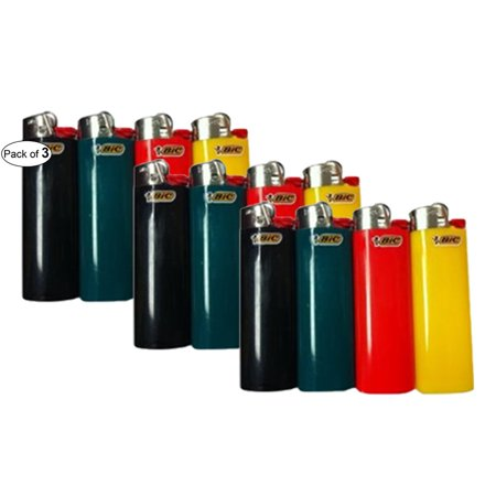 Full Size Assorted Colour Lighters (Pack Of 3) By BIC