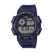 Casio Men's Digital World Time Watch, Blue