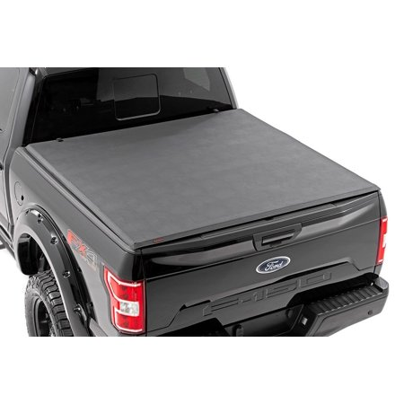 Rough Country Soft Tri-Fold (fits) 2015-2019 Ford F150 5.5 FT Bed Tonneau Cover