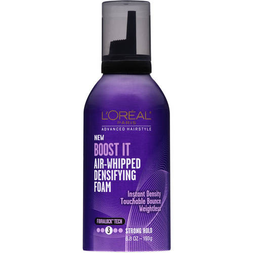 L'Oreal Paris Advanced Hairstyle Boost It Air-Whipped Densifying Foam, 6.8 oz