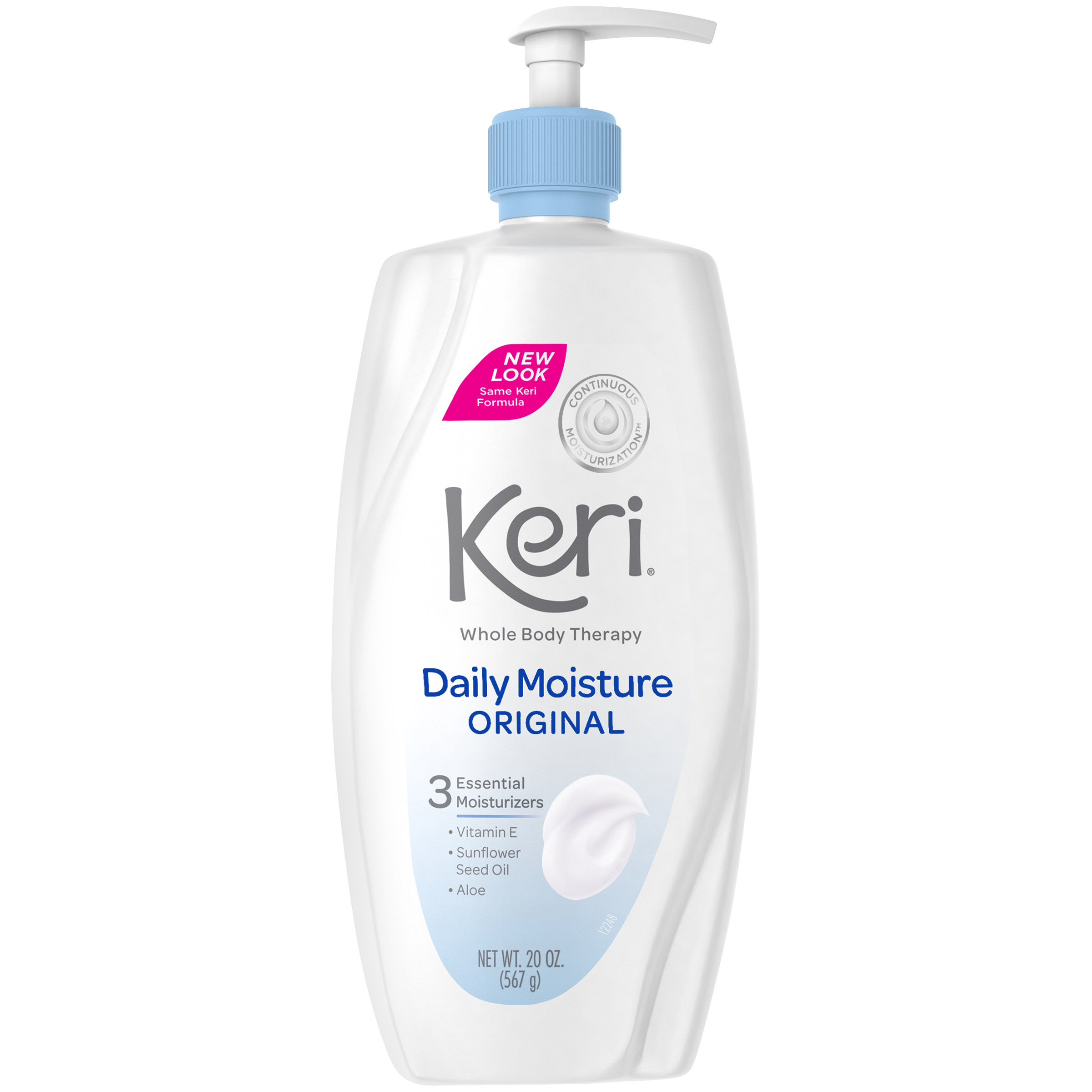 Keri Daily Dry Skin Therapy Moisture Original Body Lotion, 20 oz