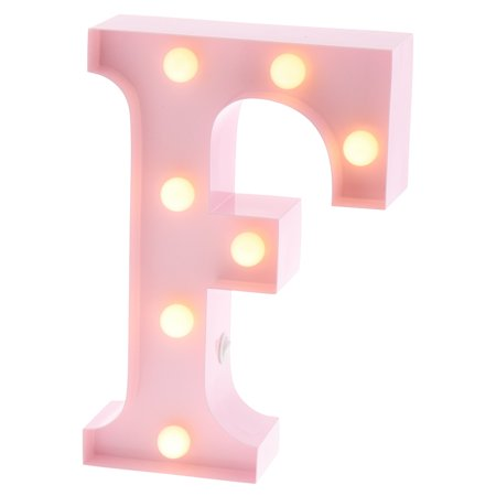 Barnyard Designs Metal Marquee Letter F Light Up Wall Initial Nursery Letter, Home and Event Decoration 9