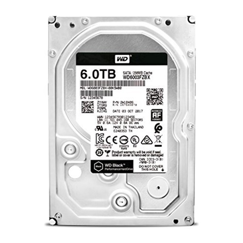 "WD Black 6TB Performance 7200 RPM SATA 3.5"" Internal Hard Drive WD6003FZBX"