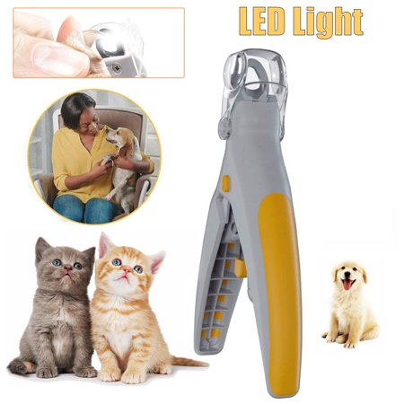 Pets Nail Trimmer Care Nail Scissors Clippers Grinders for Cat Dog Claw Tool With LED light (Cat Nail Grinder)