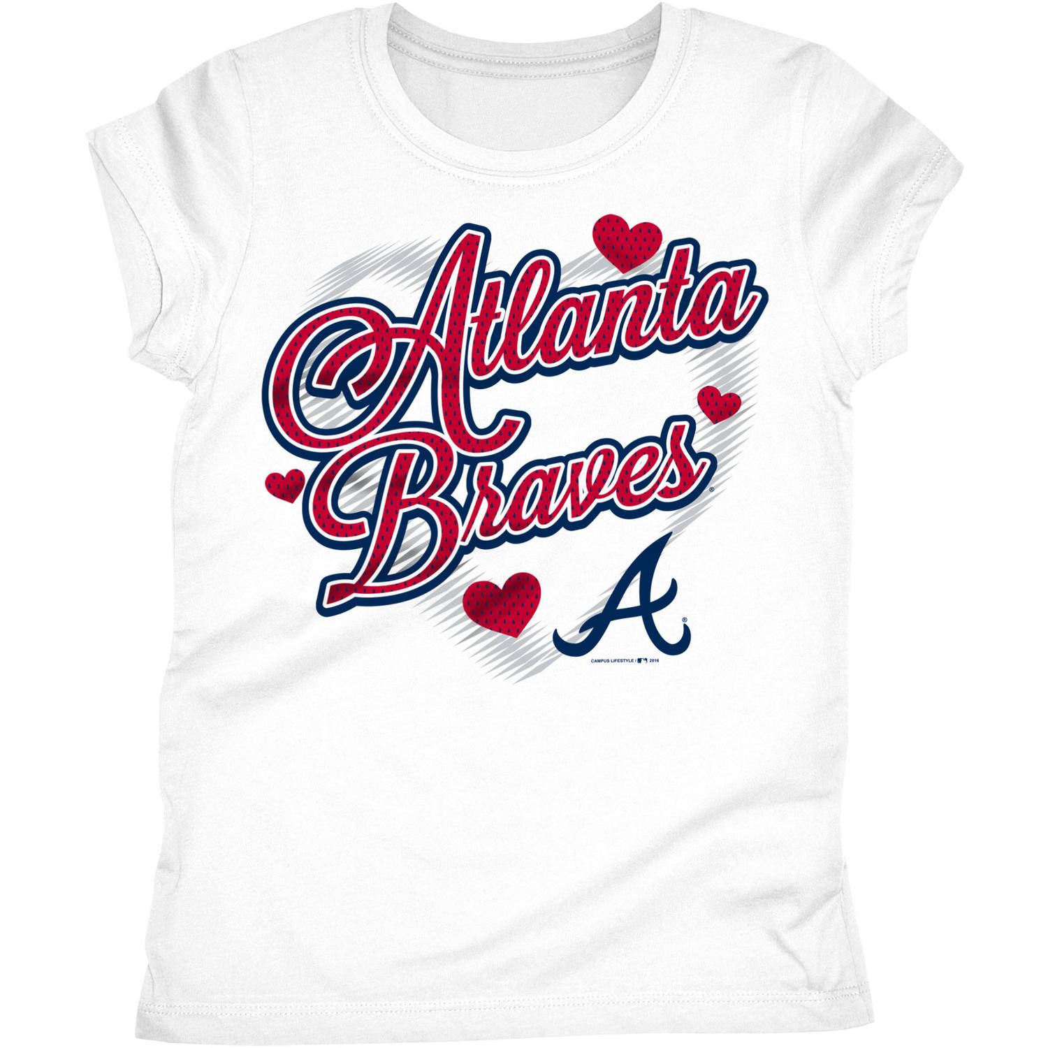 Atlanta Braves Girls Short Sleeve Graphic Tee
