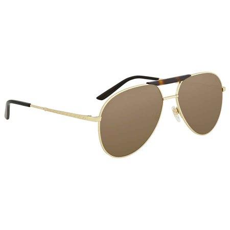Gucci Brown Aviator Sunglasses GG0242S 002 59