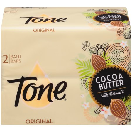 - Tone Bath Bar Soap, Cocoa Butter, 4.25 Ounce Bars, 2 Count