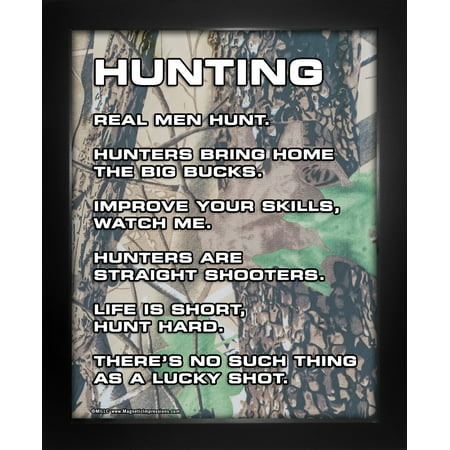 framed hunting 8 x 10 sport poster print funny realtree camouflage quotes gift for hunters walmart com