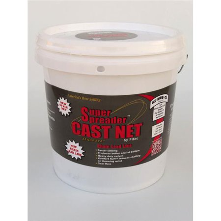Super Spreader 12712 12 ft. x 1 in. Mesh, SS1000-CL Chain Leaded Cast Net Clear, 1 lb wt - image 1 of 1