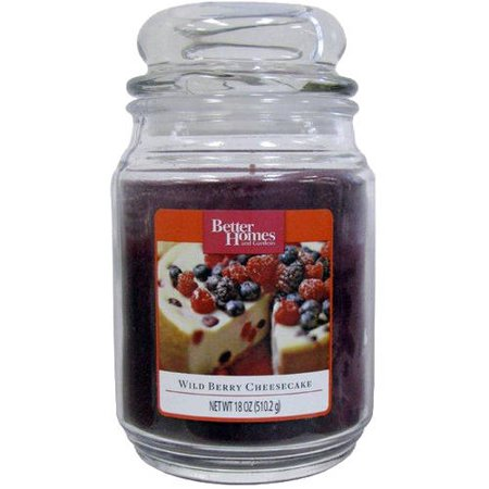 Better Homes And Gardens 18 Oz Jar Candle Wild Berry