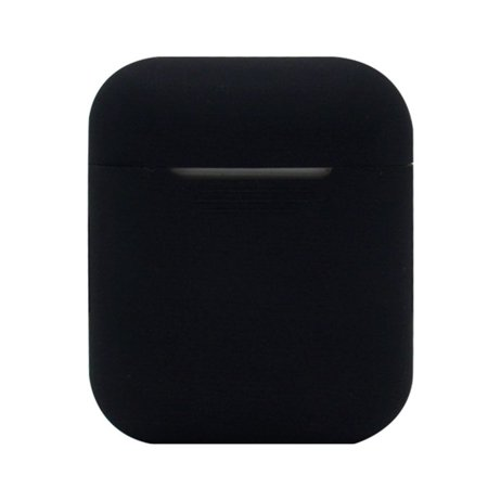 For Airpods Wireless Headphone Box Portable Silicone Case Cover Dust Proof Shockproof Protector (Black)