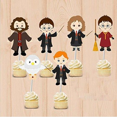 Harry Potter party Cupcake Toppers Harry Potter Birthday Party Decorations Party Supplies Birthday Party Decorations