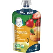 (Pack of 12) Gerber 2nd Foods Organic Pear Peach Strawberry Baby Food, 3.5 oz Pouches