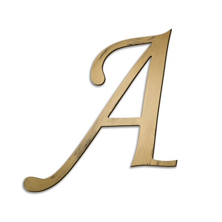 Individual script letters wall decor letter a for Letter n decorations