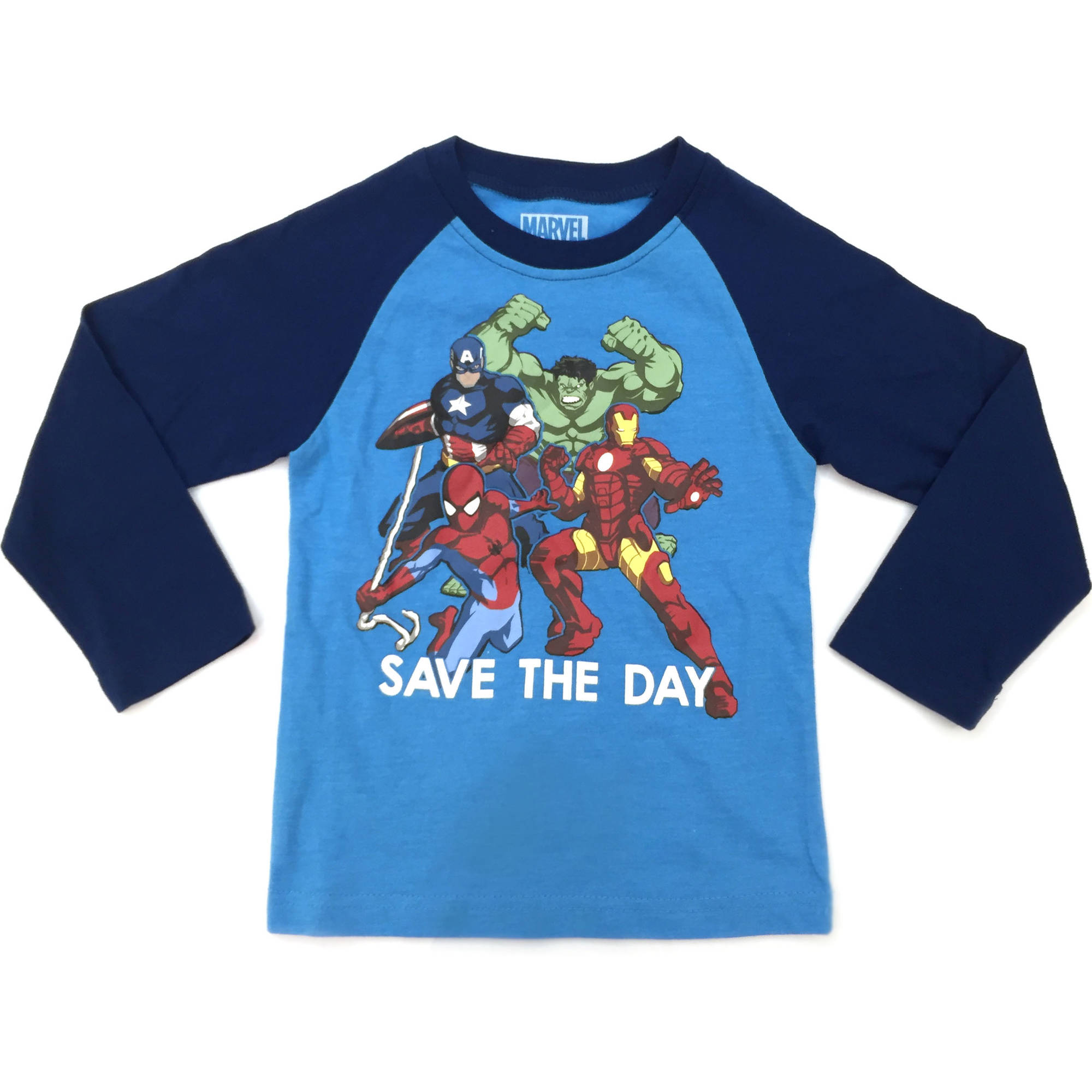 Avengers Toddler Boy Save The Day Longsleeve Raglan Tee