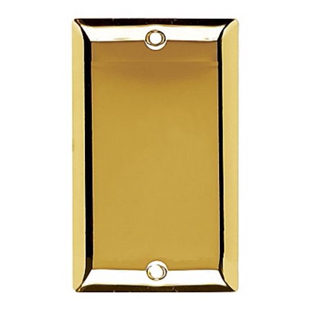 Pass and Seymour SB13-PB Polished Brass Single Gang Blank Wall Plate ()