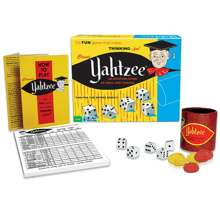 Classic Yahtzee, An Exciting Game Of Skill And Chance, A CLASSIC: Yahtzee - one of the most popular dice games since its introduction in the 1950s, with Over 50.., By - Lawn Yahtzee