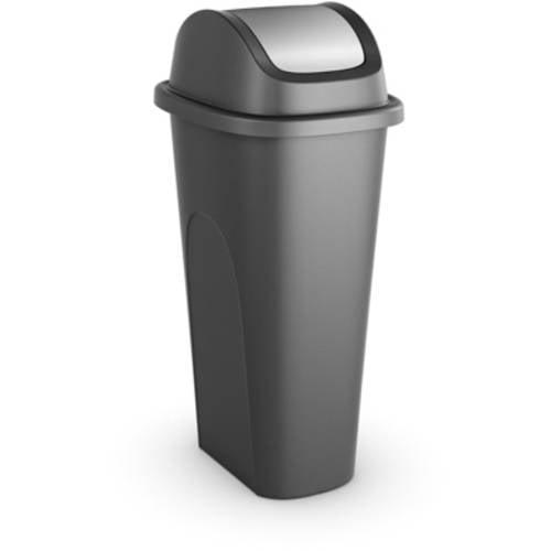 DETAILS. Plastic Trash Can Garbage Waste Bin Kitchen Swing Lid ...