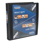 "Exceed 3-Ring Heavy Duty Binder, 1.5"" Slant Ring, Black"