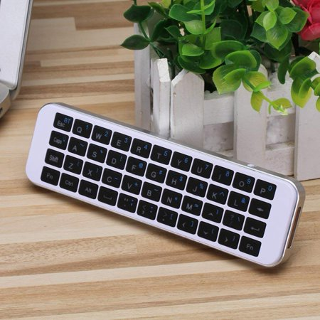 (Updated with Backlit) iPazzPort Bluetooth Keyboard Mini Wireless Keyboard  LED Backlit Handheld Remote for PC, Smart TV,Android Box, KP-810-30BL