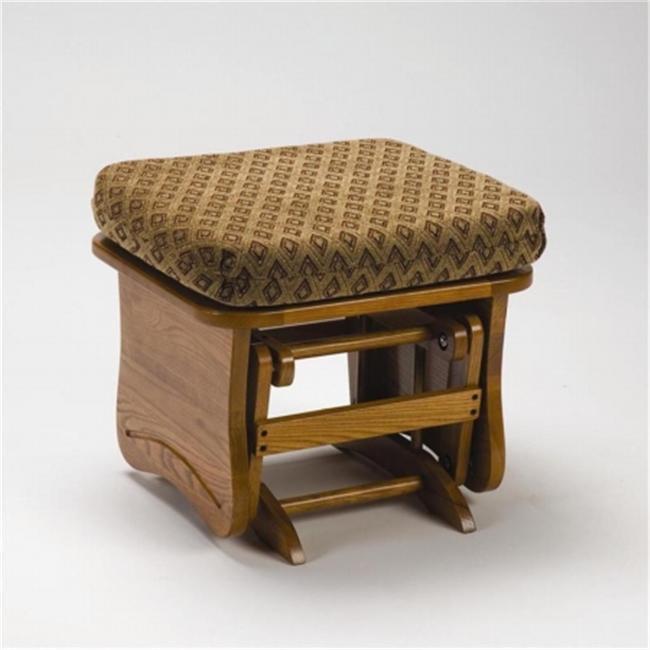 Brooks Furniture 1704AdroitMahogany Light Oak Gliding Ottoman